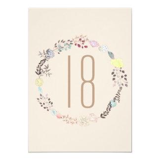 Flores extravagantes e aniversário dos diamantes convite 12.7 x 17.78cm