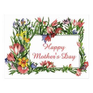 Flores felizes do dia das mães cartões postais