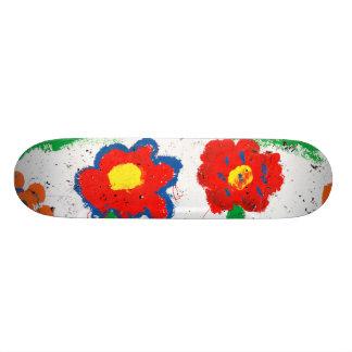 Flores felizes shape de skate 18,4cm