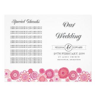 Flores florais cor-de-rosa bonito que Wedding a br Modelos De Panfleto
