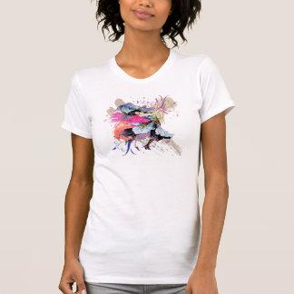 Flores florais da arte abstracta feericamente da t-shirt
