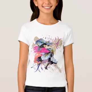 Flores florais da arte abstracta feericamente da camiseta