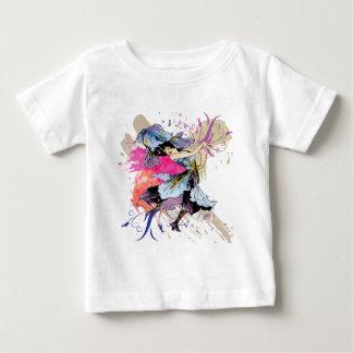 Flores florais da arte abstracta feericamente da camiseta para bebê