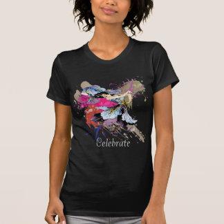Flores florais da arte abstracta feericamente da d camiseta