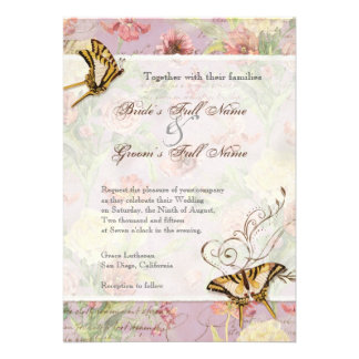 Flores florais da tulipa cor-de-rosa da peônia de  convites personalizado