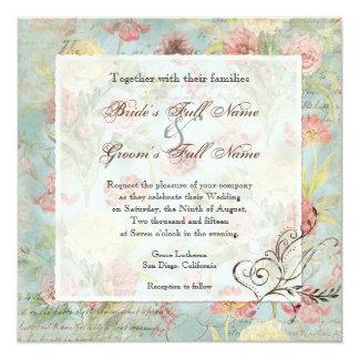 Flores florais da tulipa cor-de-rosa da peônia de convites personalizados