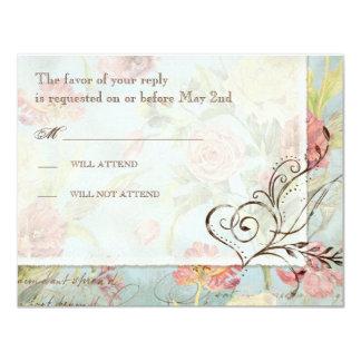 Flores florais da tulipa cor-de-rosa da peônia de convite personalizado