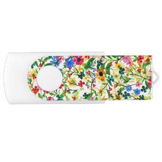 Flores florais do primavera colorido bonito pen drive giratório