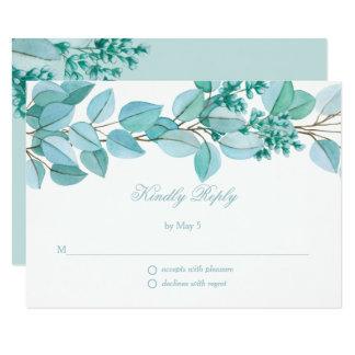 Flores florais que Wedding o cartão de RSVP