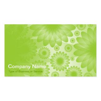 Flores geométricas - verde marciano com cinzas cartão de visita