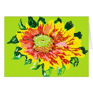 Flores gerais de /gaillardia do cartão de nota