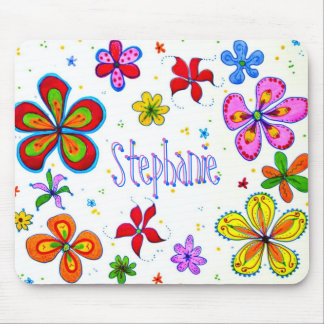 Flores grandes Mousepad artístico