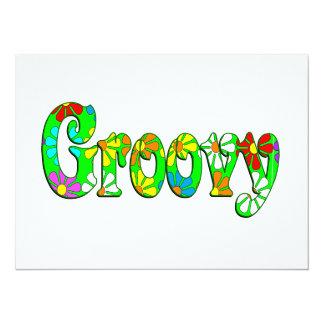 Flores Groovy Convites Personalizado