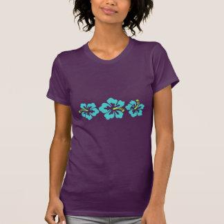 Flores havaianas do hibiscus camisetas