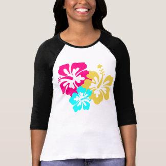 Flores havaianas do hibiscus t-shirt