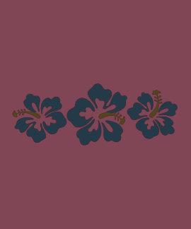 Flores havaianas do hibiscus t-shirts