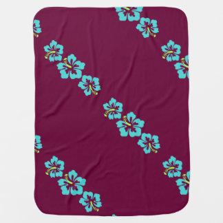 Flores havaianas do hibiscus cobertor de bebe