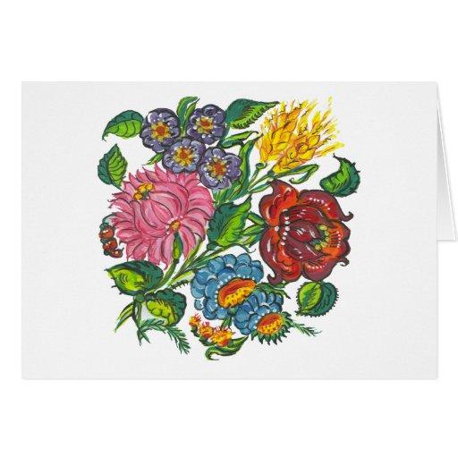 flores húngaras cartao