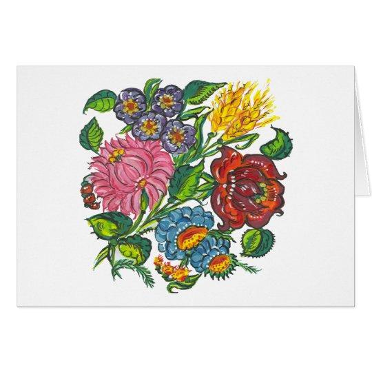 flores húngaras cartão comemorativo