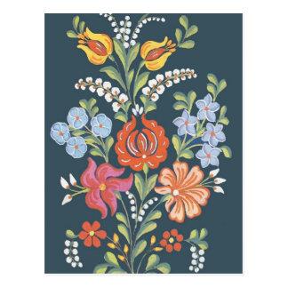 Flores húngaras cartão postal