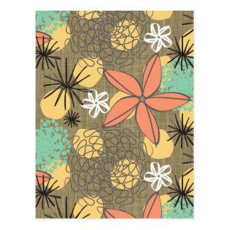 Flores-Linho Cartão Postal