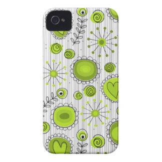 Flores lunáticas na caixa verde do iPhone 4/4S Capa Para iPhone