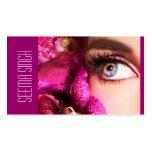 Flores magentas dos olhos modelo cartao de visita