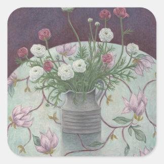 Flores nas flores 2003 adesivo quadrado