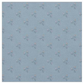 Flores no tecido Cinza-Azul do teste padrão