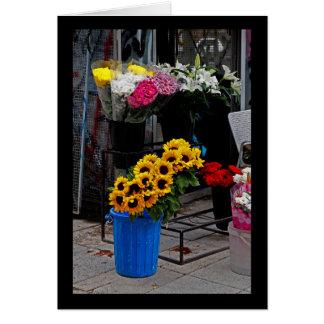 Flores para a venda cartão comemorativo