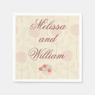Flores para casamentos vermelhas guardanapo de papel