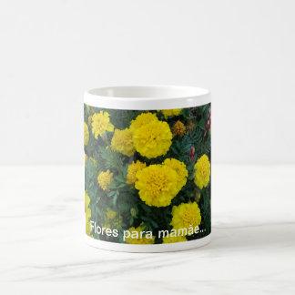 Flores para mamãe... caneca