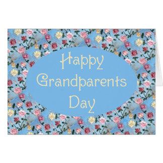 Flores para o dia das Avó-Avós Cartão Comemorativo