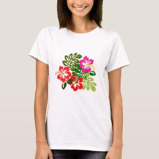 Flores para o dia de admissões de Havaí - dia de Camiseta