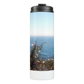 Flores pelo Tumbler do Thermal do mar