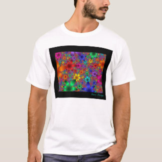Flores por fractals camiseta