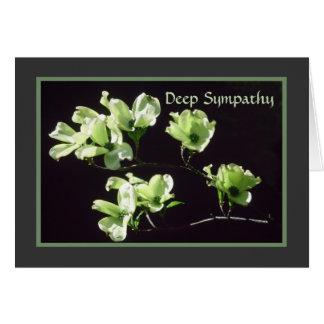 Flores profundas do Dogwood do cartão de simpatia