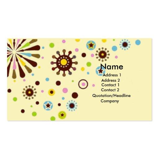 Flores retros cartão de visita
