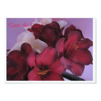 Flores românticas convite 12.7 x 17.78cm