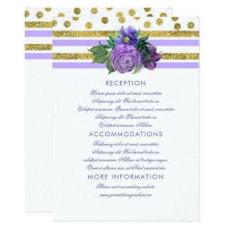 Flores roxas da ameixa que Wedding o cartão do