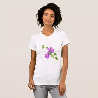 Flores roxas da grama camiseta