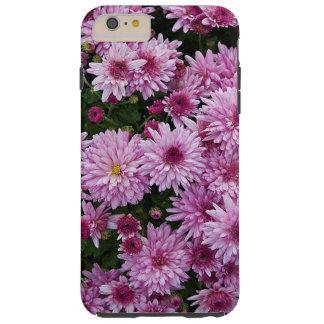 Flores roxas do crisântemo X Morifolium Capa Tough Para iPhone 6 Plus