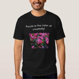 Flores roxas t-shirt