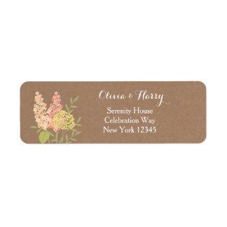 Flores rústicas do país - etiqueta do casamento de