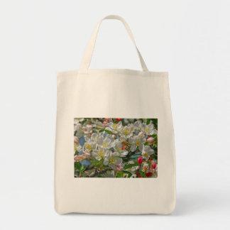 Flores & saco da abelha do mel bolsa tote