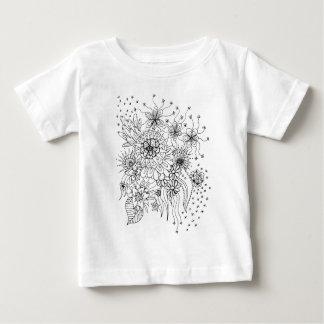 Flores selvagens camiseta para bebê