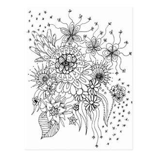 Flores selvagens cartão postal