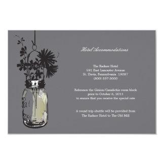 Flores selvagens do cartão de RSVP & frasco de