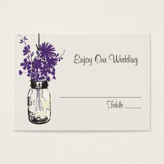 Flores selvagens do cartão do assento da escolta &