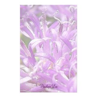 Flores selvagens personalizadas da lavanda bonito papelaria